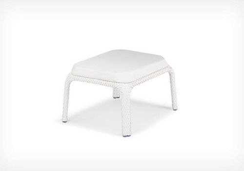 DEDON SEASHELL FOOTSTOOL-CHALK