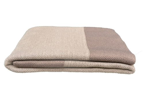CANE-LINE STAY WARM PLAID 67x43 LATTE, SELECTED PP