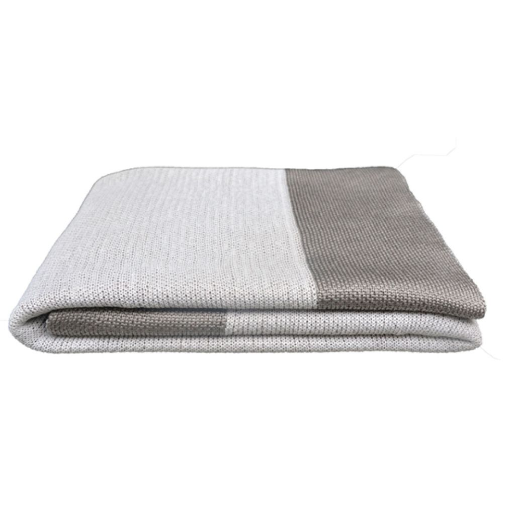 CANE-LINE STAY WARM PLAID 67x43 DUSTY WHITE, SELECTED PP