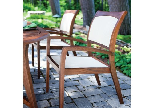 JENSEN LEISURE FURNITURE TOPAZ STACKING SLING CHAIR - NATURAL (sold in sets of 2)