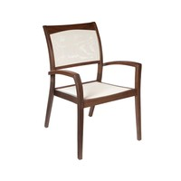 TOPAZ STACKING SLING CHAIR - NATURAL