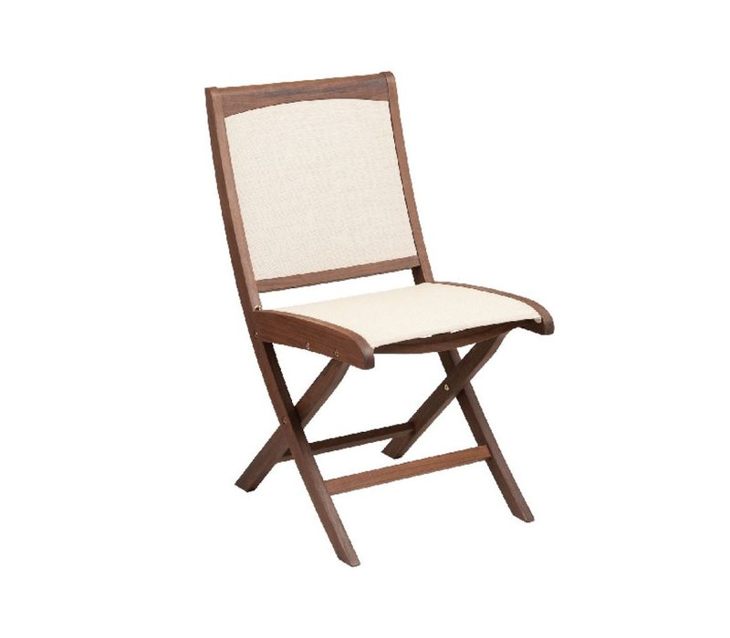 TOPAZ FOLDING SLING SIDE CHAIR - NATURAL SLING