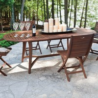 TOPAZ OVAL EXTENDING DINING TABLE