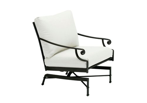 BROWN JORDAN VENETIAN MOTION LOUNGE CHAIR WITH CUSHIONS IN GRADE A FABRIC