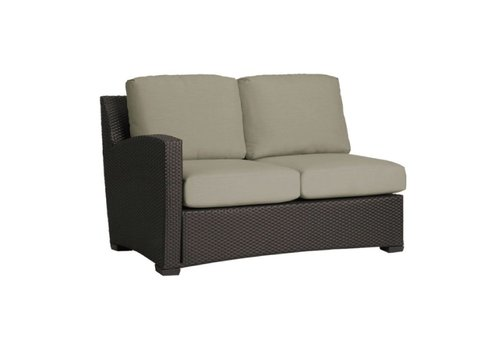 BROWN JORDAN FUSION LEFT ARM SECTIONAL IN BRONZE WITH GRADE A FABRIC