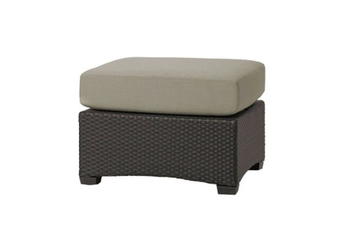 BROWN JORDAN FUSION SECTIONAL OTTOMAN IN BRONZE WITH GRADE A FABRIC