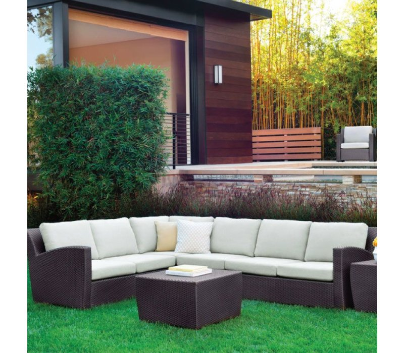 FUSION RIGHT ARM SECTIONAL IN BRONZE WITH GRADE A FABRIC