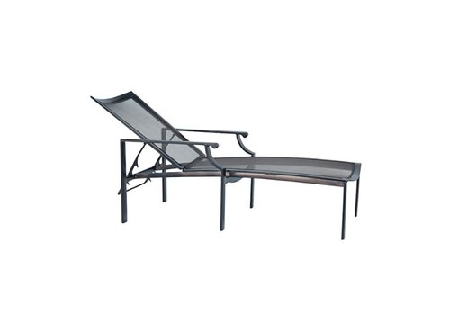 BROWN JORDAN COAST ADJUSTABLE CHAISE WITH PARABOLIC SLING