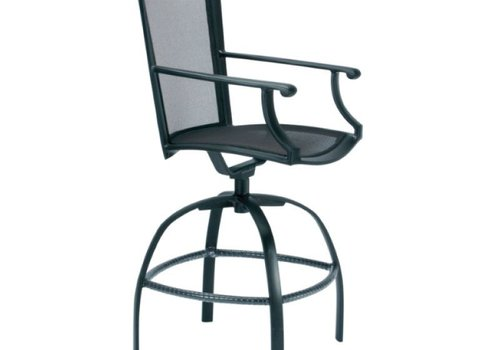 BROWN JORDAN COAST SWIVEL BARSTOOL WITH ARMS
