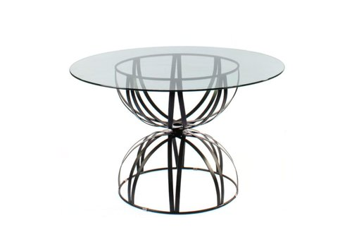 AMALFI LIVING HOURGLASS GRANDE 36 INCH ROUND TABLE BASE IN EPOXY COATED STEEL