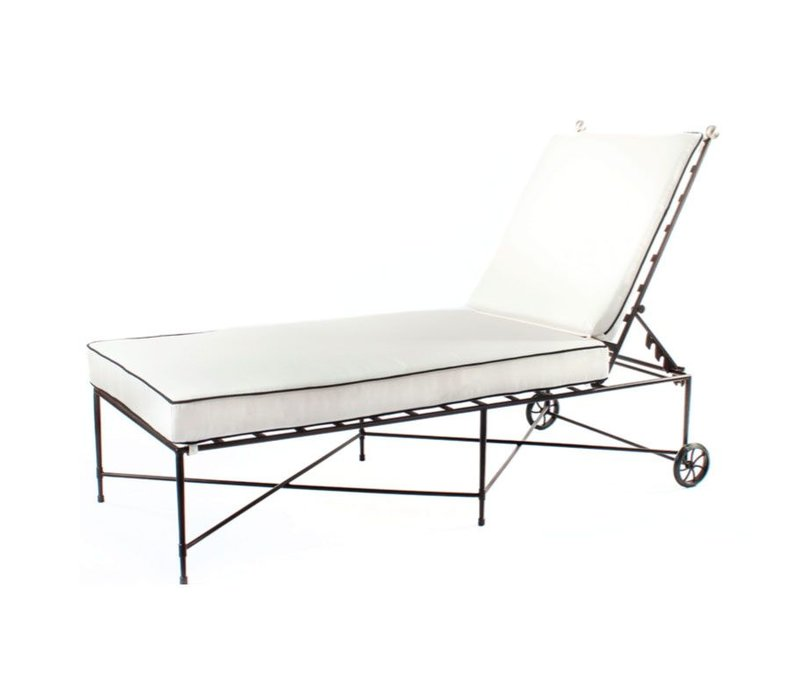 CHAISE NO ARMS IN EPOXY COATED STEEL