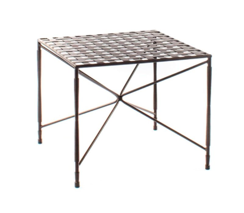 AMALFI COFFEE TABLE STAR BASE WOVEN TOP