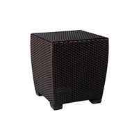 FUSION 19 INCH SQUARE WOVEN OCCASIONAL TABLE IN BRONZE