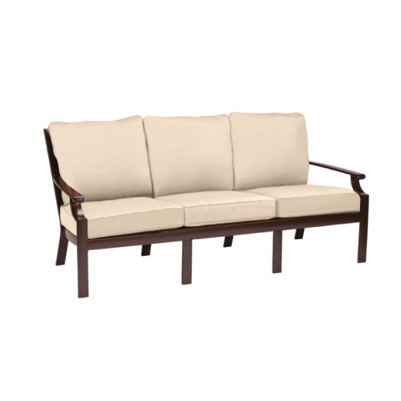 Brown jordan coast cushion sofa with grade a fabric kolo for Sofa jordsand