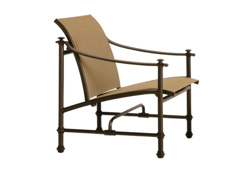 BROWN JORDAN CAMPAIGN SLING LOUNGE CHAIR WITH GRADE A SLING