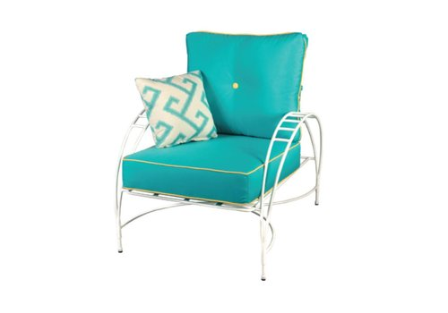 AMALFI LIVING PHOENICIAN LOUNGE CHAIR IN POWDER COATED STEEL