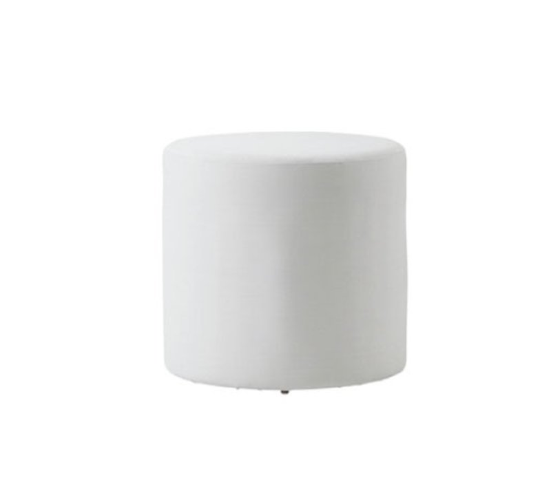 REST SIDE TABLE/FOOTSTOOL-WHITE