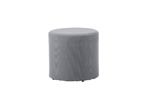 CANE-LINE REST SIDE TABLE/FOOTSTOOL-GREY