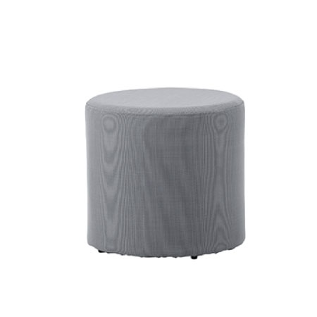 CANE-LINE REST SIDE TABLE/FOOTSTOOL-GRAY
