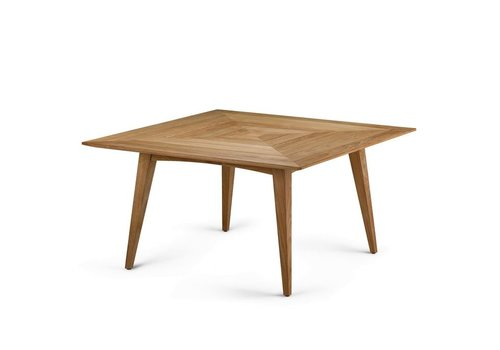 DEDON BARCELONA LOW DINING TABLE WITH TEAK TOP