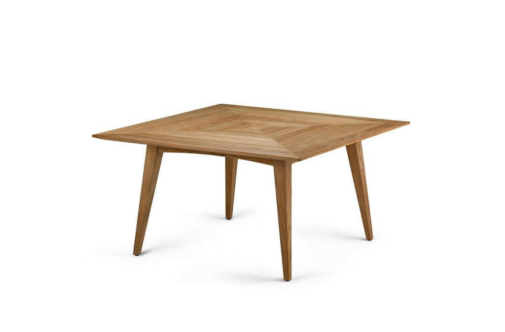 BARCELONA LOW DINING TABLE WITH TEAK TOP