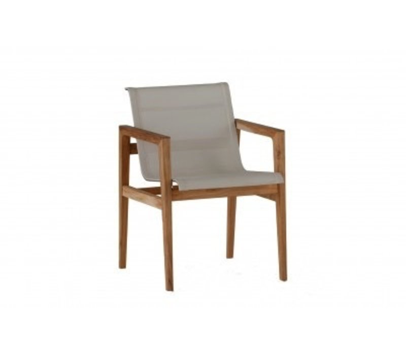 COAST TEAK ARM CHAIR NATURAL TEAK