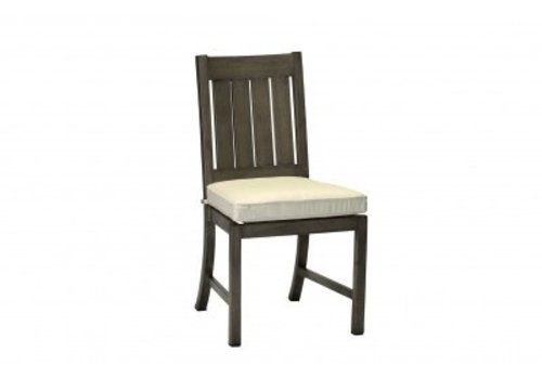 SUMMER CLASSICS CLUB ALUMINUM SIDE CHAIR IN SLATE GRAY,