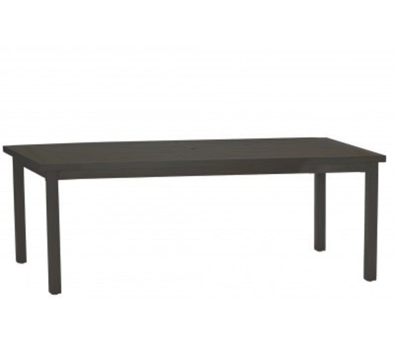 CLUB RECT DINING TABLE SLATE GRAY  W/ HOLE