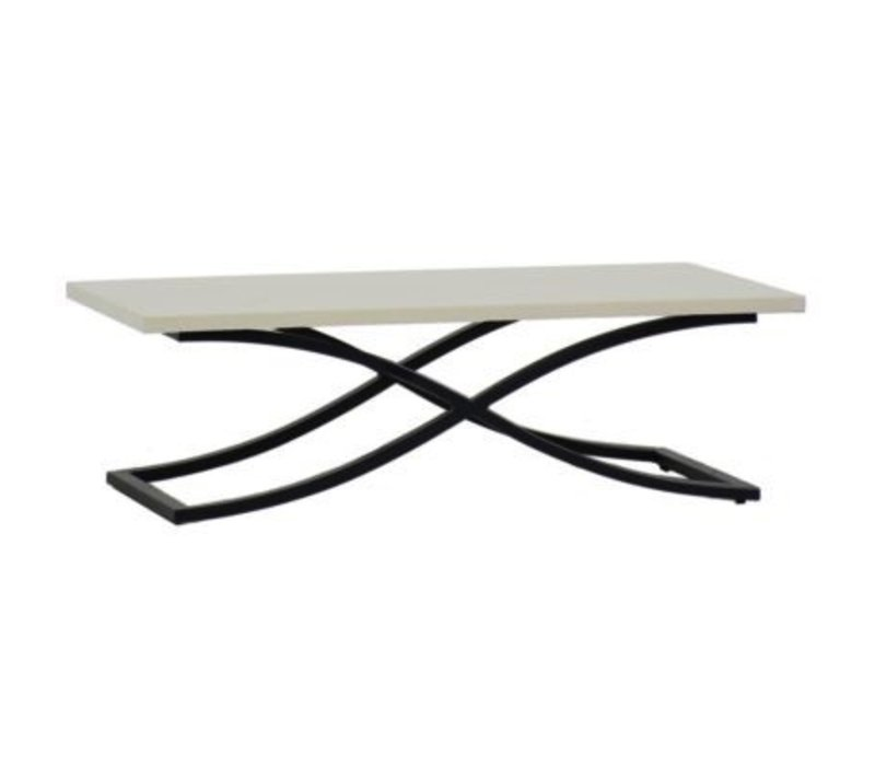MARCO COFFEE TABLE EBONY / TRAVERTINE SUPERSTONE