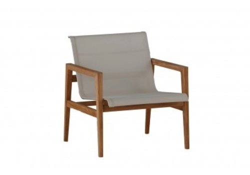 SUMMER CLASSICS COAST TEAK LOUNGE CHAIR- NATURAL