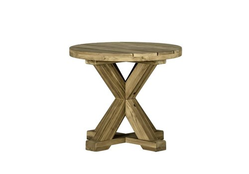 SUMMER CLASSICS MODENA END TABLE WEATHERED TEAK