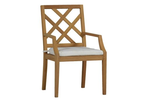 SUMMER CLASSICS HALEY ARM CHAIR - NATURAL TEAK