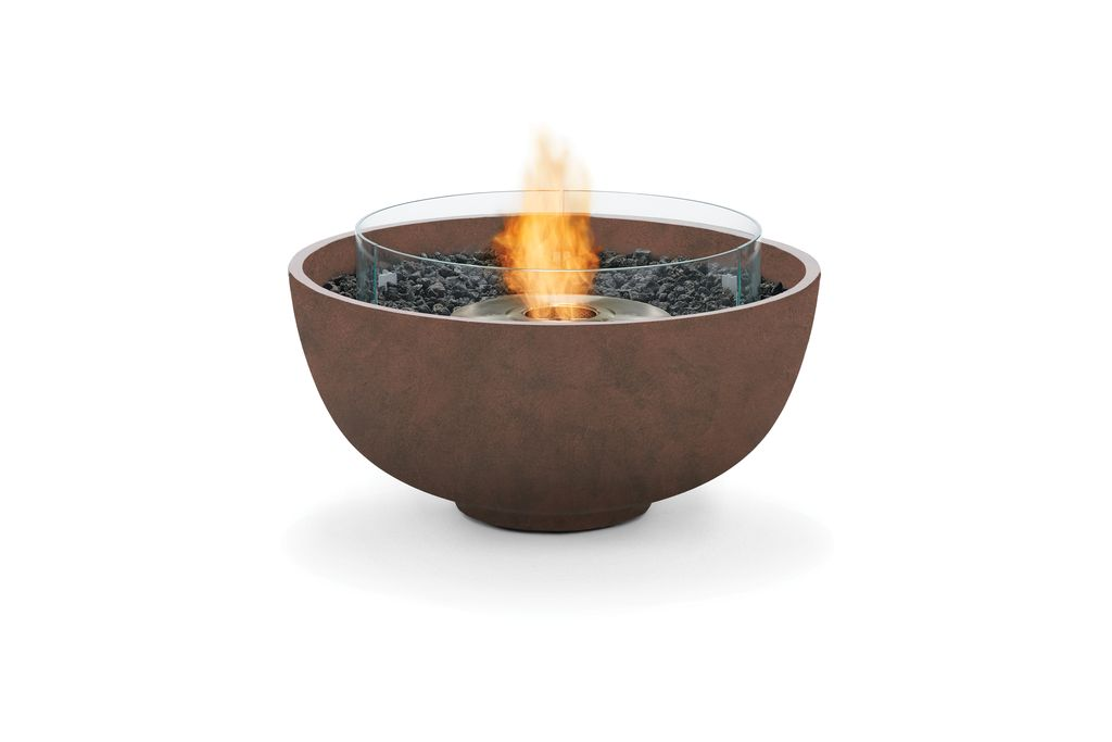 Urth Bioethanol Fire Pit In Rust Kolo Collection