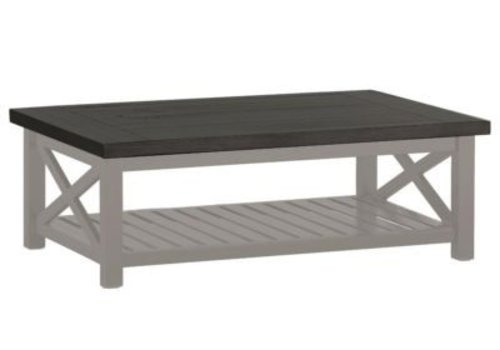 SUMMER CLASSICS CAHABA COFFEE TABLE OYSTER BASE WITH SLATE GRAY TOP
