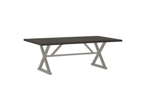 SUMMER CLASSICS CAHABA DINING TABLE OYSTER BASE WITH SLATE GRAY TOP