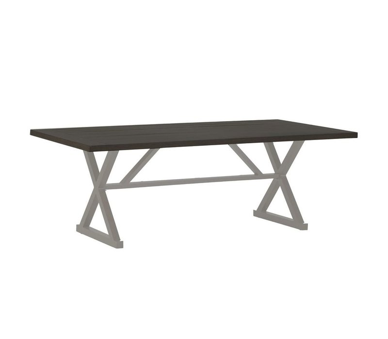 CAHABA DINING TABLE OYSTER BASE WITH SLATE GRAY TOP