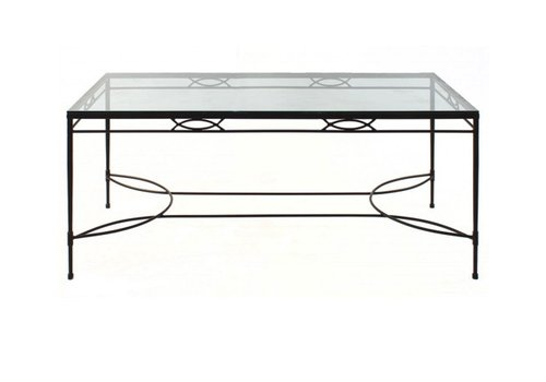 AMALFI LIVING 72x36 DINING TABLE BASE IN EPOXY COATED STEEL