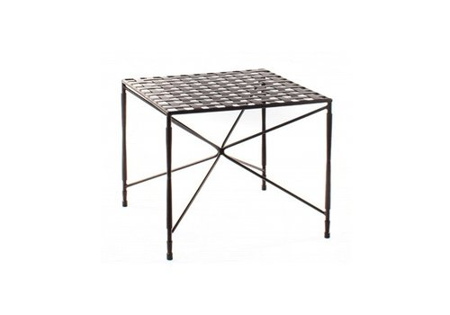 AMALFI LIVING AMALFI OCCASSIONAL TABLE STAR BASE WOVEN TOP