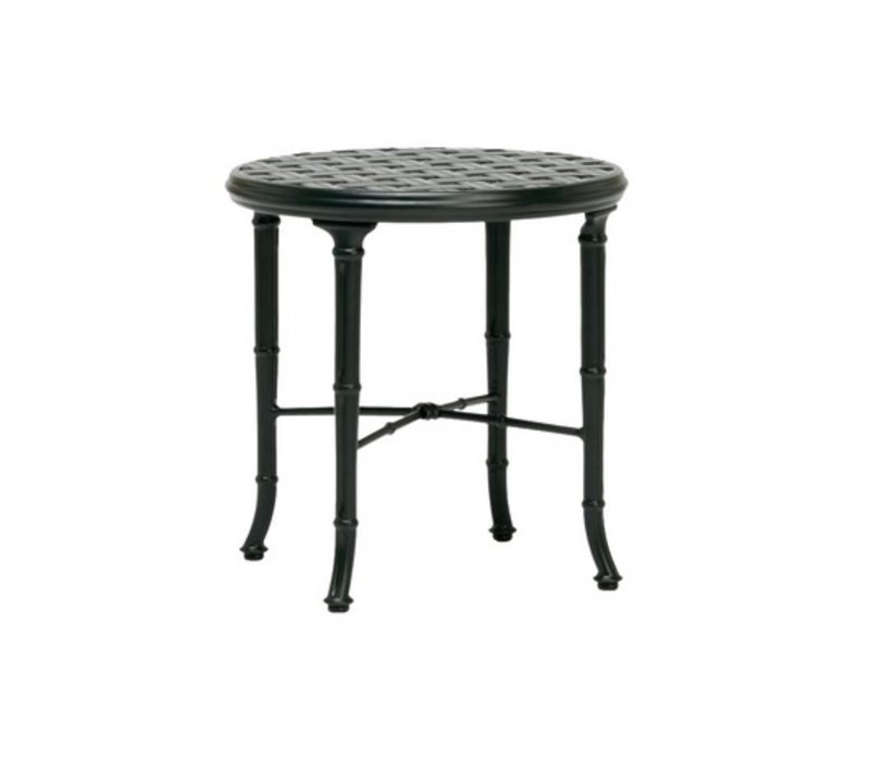 CALCUTTA 21 INCH CAST ALUMINUM SIDE TABLE
