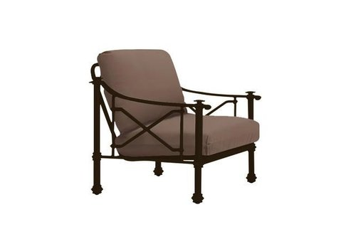 BROWN JORDAN CAMPAIGN GRANDE LOUNGE CHAIR WITH GRADE A FABRIC