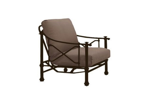 BROWN JORDAN CAMPAIGN GRANDE ACTION LOUNGE CHAIR WITH GRADE A FABRIC