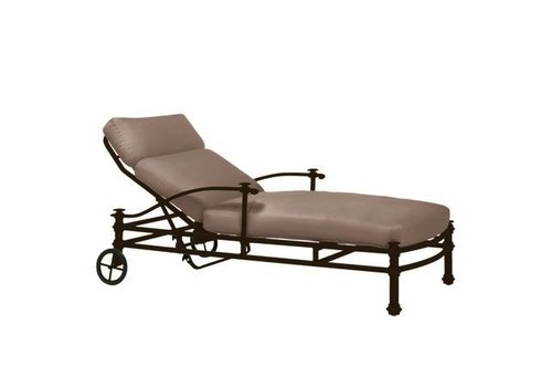 BROWN JORDAN CAMPAIGN GRANDE ADJUSTABLE CHAISE WITH LOOSE CUSHIONS - GRADE A