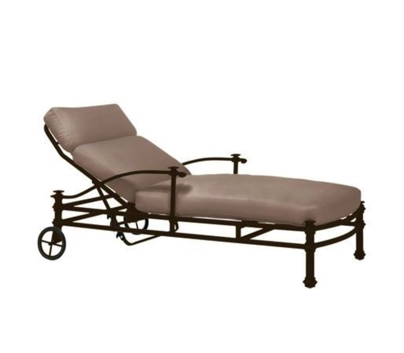 CAMPAIGN GRANDE ADJUSTABLE CHAISE WITH LOOSE CUSHIONS - GRADE A