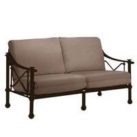 CAMPAIGN GRANDE LOVESEAT WITH GRADE A FABRIC