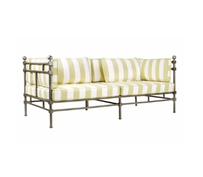 DEIA SOFA WITH 2 RECTANGLE PILLOWS / GRADE A FABRIC