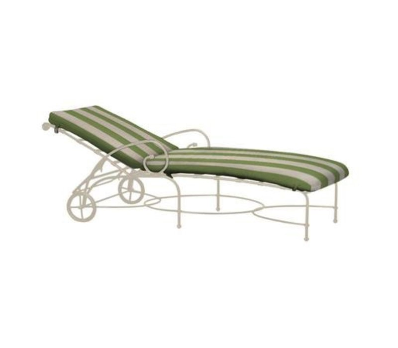 FLORENTINE ADJUSTABLE CHAISE WITH WHEELS AND CUSHION - GRADE A