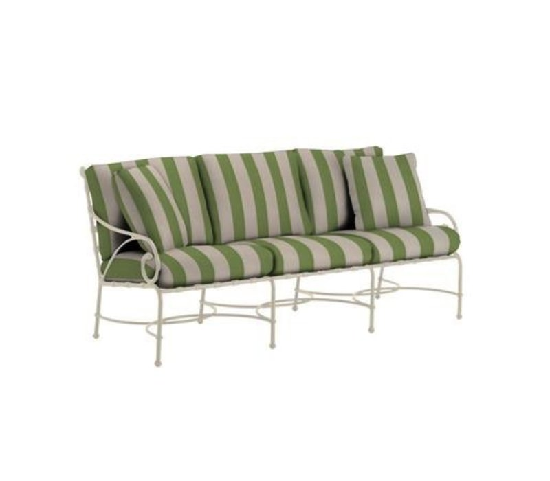 FLORENTINE SOFA IN GRADE A FABRIC WITH TWO THROW PILLOWS