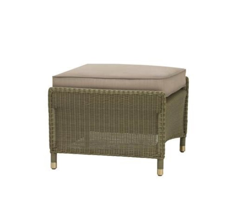 SOUTHAMPTON OTTOMAN IN SAGE WITH GRADE A FABRIC
