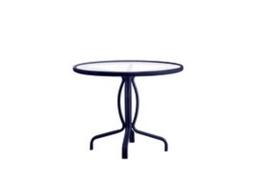 BROWN JORDAN TAMIAMI 36 BISTRO TABLE - SOLID ALUMINUM TOP WITH UMBRELLA HOLE