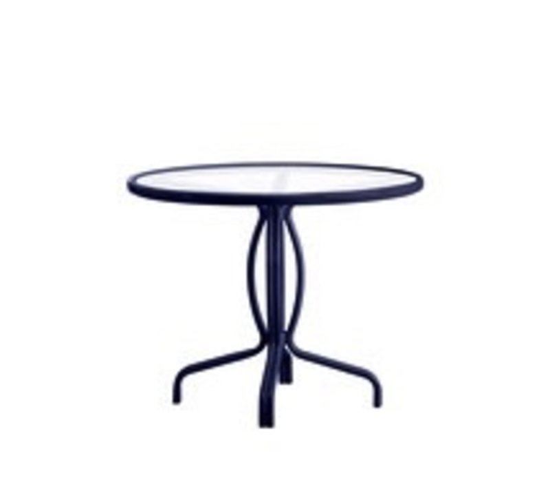 TAMIAMI 36 BISTRO TABLE - SOLID ALUMINUM TOP WITH UMBRELLA HOLE